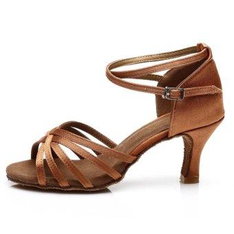 Fashion 213 woman dance shoes latin shoes ballroom dance tangoshoes (dark skin color) (Intl) - 4