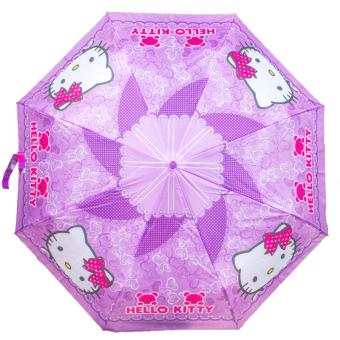 Fashion Automatic Foldable Umbrella KItty (Violet)