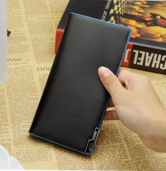 Fashion Black Long Men Wallet Famous Luxury Designer Brand PuLeather Mens Wallets Male Business Money Card Purse - intl