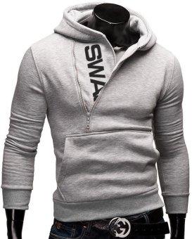 Fashion Brand Hoodies Men Sweatshirt Male Zipper Hooded Jacket Casual Sportswear Moleton Masculino Assassins Creed Outwear (Black&Blue) - intl - 3