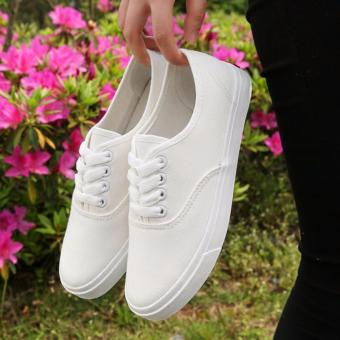 Fashion Canvas White Sneakers For Women