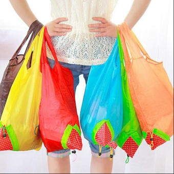 Fashion Eco Handbag Strawberry Foldable Shopping Bags Reusable Bag 8 Colors Hot - intl