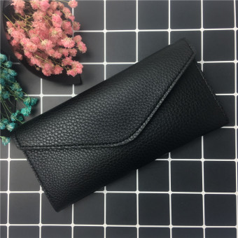 Fashion female multi-functional embossed leather wallet New style wallet (Black) (Black)
