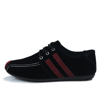 Fashion Flat laced-ups Shoes-Black