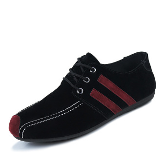 Fashion Flat laced-ups Shoes-Black - picture 2