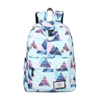 Fashion Floral Women Backpack School bag For Teenagers Ladies GirlsBack Pack School bags Bagpack Mochila(blue) - intl