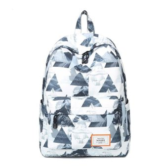 Fashion Floral Women Backpack School bag For Teenagers Ladies GirlsBack Pack School bags Bagpack Mochila(white) - intl