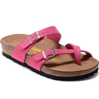 Fashion For Birkenstock Mayari Birko-Flor Flat Sandals Women (Pink)- intl