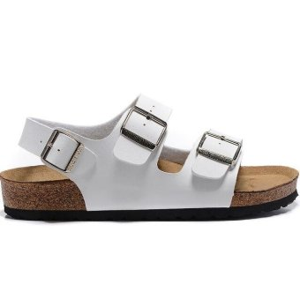 Fashion For Birkenstock Milano Soft Footbed Flat Sandals Women (White) - intl Price Philippines