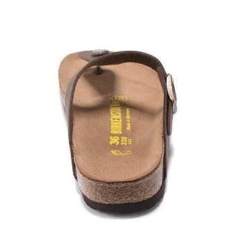 Fashion For Birkenstock Ramses Flat Birko-Flor Flip Flop Men(Brown) - intl - 3