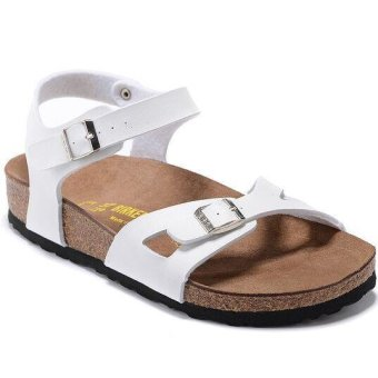 Fashion For Birkenstock Rio Birko-Flor Flat Sandals Women (White) -intl