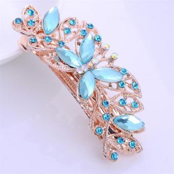Fashion Hairpin Crystal Diamond Hairpin Spring Horsetail HairAccessories - intl - 5