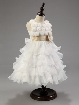 Fashion Kids Clothing Sequin Elegant Flower Girls Party Princess Wedding Tutu Layer Dress - intl - 5
