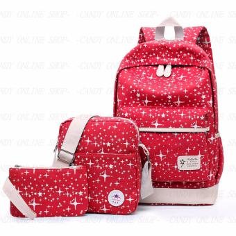 Fashion Korea 3 in 1 backpack A003 (Red)