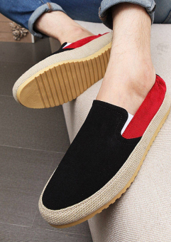 Fashion Leather Flat Loafers Shoes-Black - picture 3