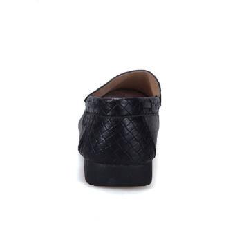 Fashion Leisure Flat Shoes - Black