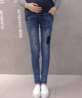 Fashion Maternity Belly Jeans - 2
