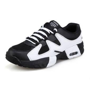 Fashion Men Basketball Sport Breathable Low Cut Sneakers-White