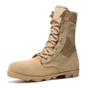 fashion men boots cowboy biker boots martin boots desert boots War Wolf 2 with the same style Training shoes The security guard CS war boots shoes High to help combat boots - intl
