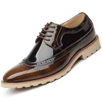 Fashion Men Business Shoes - Bronze