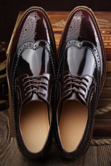 Fashion Men Business Shoes - Wine red - picture 2