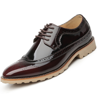 Fashion Men Business Shoes - Wine red