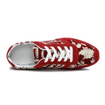 Fashion Men Casual Skater Shoes - Red - picture 2
