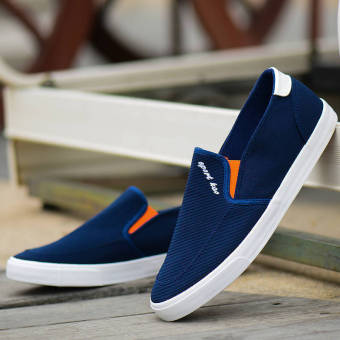 Fashion Men Flat Loafers - Blue