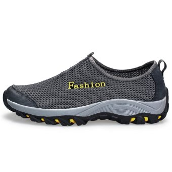 Fashion Men Shoes Low Cut Sneakers – Dark Grey - picture 2
