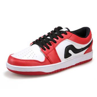 Fashion Men Sport Low Cut Skater Shoes-Red