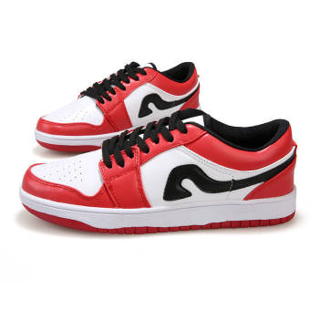 Fashion Men Sport Low Cut Skater Shoes-Red - picture 2