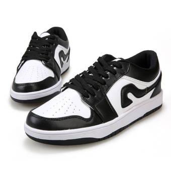 Fashion Men Sport Low Cut Skater Shoes-White - picture 2