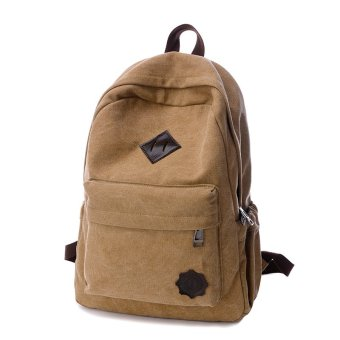Fashion mens back packs travelling bags laptop rucksack vintage canvas backpack men school bags for teenagers boys man back bag - intl
