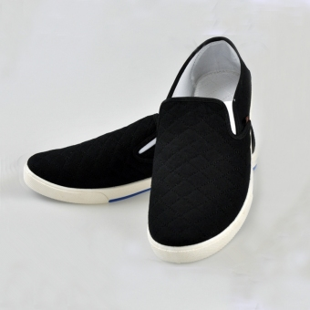 Fashion Mens Canvas Driving Shoes Breathable Slip On Loafers Casual Cotton Shoes