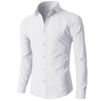 Fashion Mens Luxury Stylish Casual Dress Slim Fit T-Shirts Casual Long Sleeve 17 - Intl
