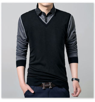 'Fashion Men''''s Slim Fit Cotton Polo Shirts Long Sleeve CasualT-Shirt Tee Tops'''