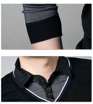 'Fashion Men''''s Slim Fit Cotton Polo Shirts Long Sleeve CasualT-Shirt Tee Tops''' - 3