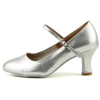 Fashion modern woman's ballroom salsa dance shoes latinshoes(Sliver) (Intl) - 4