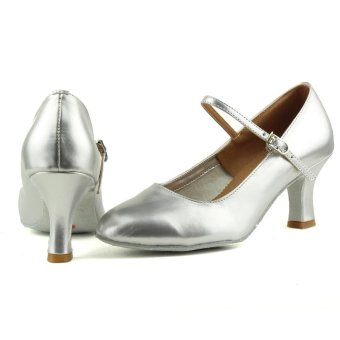 Fashion modern woman's ballroom salsa dance shoes latinshoes(Sliver) (Intl) - 2