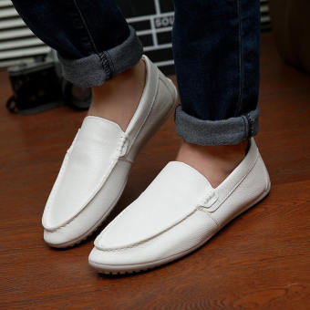 Fashion New Simple Loafers - White - picture 3