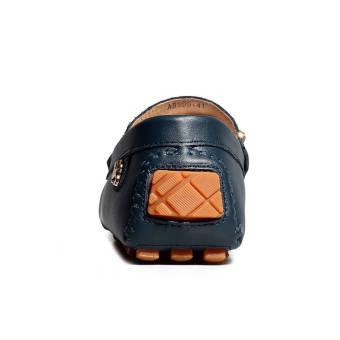 Fashion New Soft Men Leather Shoes (Dark Blue) - picture 2
