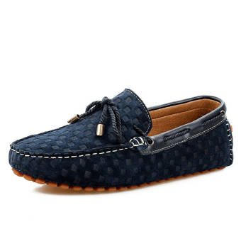 Fashion New Soft Men Loafers (Blue)