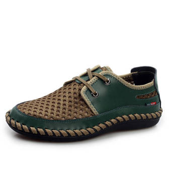 Fashion New Soft Men Plat Shoes– Dark Green - picture 2