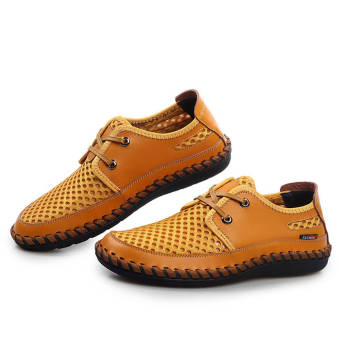 Fashion New Soft Men Plat Shoes– Yellow - picture 2