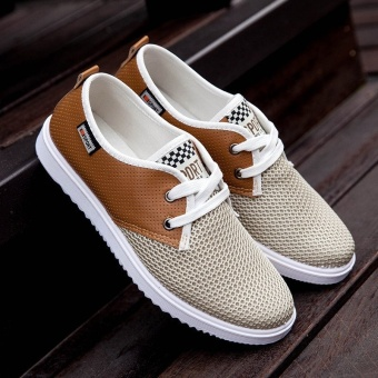 Fashion Patchwork Casual Breathable Flat Shoes Sneakers for Men - intl