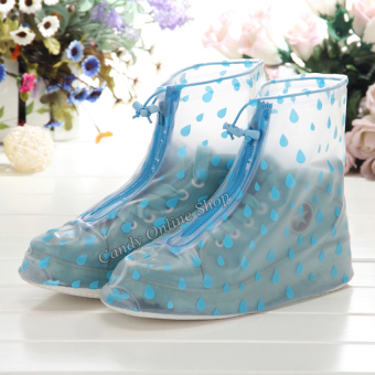 Fashion rain shoe covers (Blue)