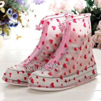 Fashion rain shoe covers (Pink)