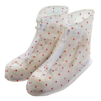 Fashion Rain Shoes Cover Dots Design (Multi-Color) Medium 36-37