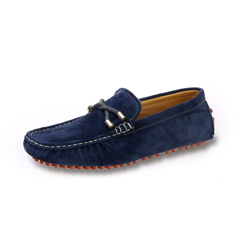 Fashion Seasons Men Leather Loafers - Dark Blue - picture 2