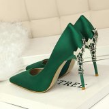 Fashion High-Heeled Shoes Thin Heels Ladies Wedding Shoes Pointed Toe Woman Pumps Closed Toe High Heels Women Shoes (White) - 4